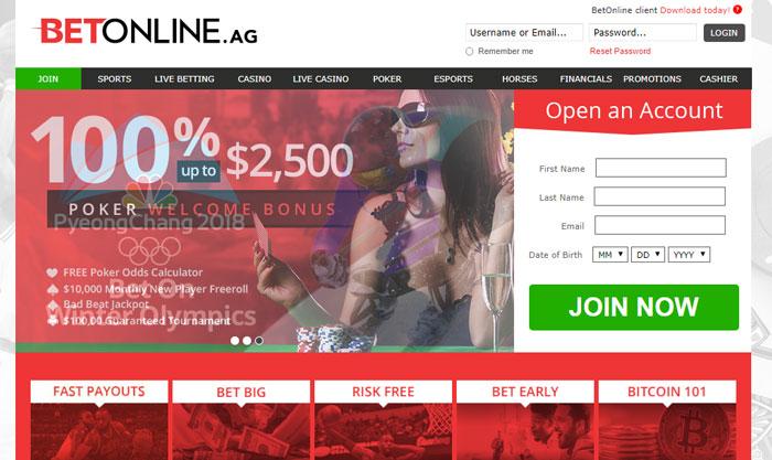 سایت بت آنلاین betonline بهترین سایت شرط بندی خارجی معتبر