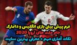 فرم پیش بینی بازی انگلیس و دانمارک یورو 2020 بونوس رایگان اولین شارژ
